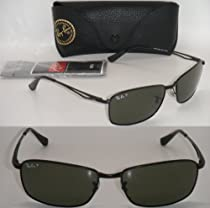 4bd5348206 Buy RAY BAN RB 3501 006 9A 61mm MATTE BLACK WITH GREEN POLARIZED NEW  AUTHENTIC LARGE