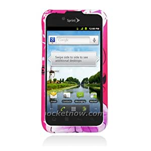 Eagle Cell PILGLS855R172 Stylish Hard Snap-On Protective Case for LG Marquee/Ignite LS855 - Retail Packaging - Hibiscus Flowers