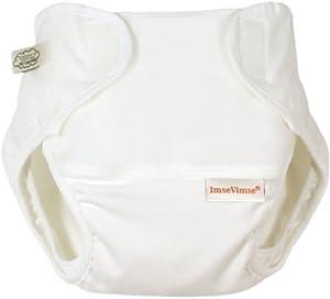 Imse Vimse Organic Cotton Diaper Cover - Large WHITE