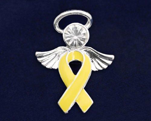 Yellow Ribbon Pin- Angel Tac (36 Pins)