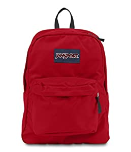 JANSPORT SUPERBREAK BACKPACK SCHOOL BAG - High Risk Red- 5KS