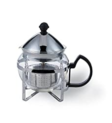 Service Ideas Chrome Finish Classic Tea Press 4 Cup from Service Ideas