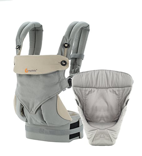 Ergobaby 4 Position 360 Bundle Of Joy with Easy Snug Infant Insert, Grey (Ergo Baby Carrier Four Position compare prices)