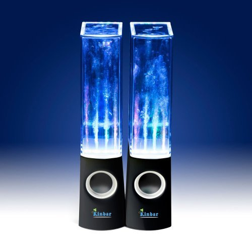Kinbar®Led Music Dancing Water Fountain Speaker Water Dancing Led Music Speakers Music Speaker/Loudspeaker Box