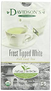 Davidson's Tea Frost Tipped White, Full Leaf Tea, Organic & Fair Trade, 1.26 Ounce Boxes (Pack of 4)