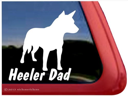 Heeler Dad ~ High Quality Australian Cattle Dog Vinyl Window Decal front-382594
