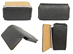Generic Premium Leather Fabric Hand Pouch for - Rage Supremo 4.5 - 3G - BLACK - HDPBK50#1434DR