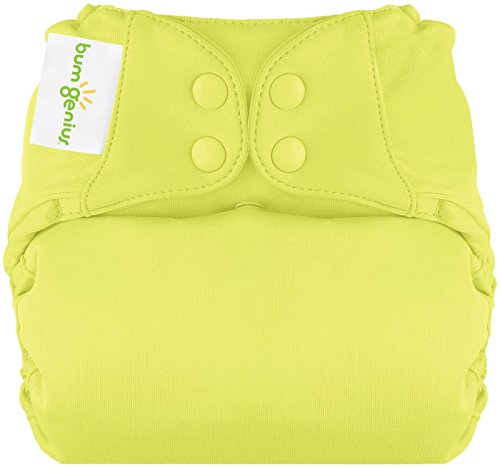 BumGenius All In One Cloth Diaper - Jolly (Citron Green) - One Size - Snap