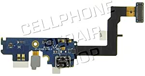 Samsung Galaxy S II AT&T Lower Charge Port PCB Board with Flex Cable Includes Charger Connector, Main Microphone and Flex Cable OEM, Samsung SGH-I777 and GT-I9100 Charging Plug PCB Board with Flexible Ribbon Cable