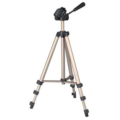 DURAGADGET 125cm size professionsal tripod stand with quick release and bonus pull-tie bag for Canon Ixus 1000HS, Ixus 300HS, Ixus 210, Ixus 200IS, Ixus 130, Ixus 120IS