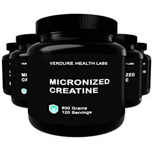 Creatine Monohydrate - Best Micronized Powder for Easy Mixing - Premium Pre Workout or Post Workout Bodybuilding Product Good for Men and Women Gets Results - 600 Grams - 4 Month Supply - Lifetime Satisfaction Guarantee - Made in USA