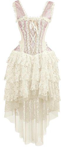 Burleska Ophelie Dress Abito lungo rosa pallido S