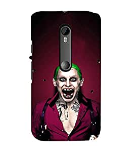 EPICCASE Scary Man with Greem hair Mobile Back Case Cover For Moto X Force (Designer Case)