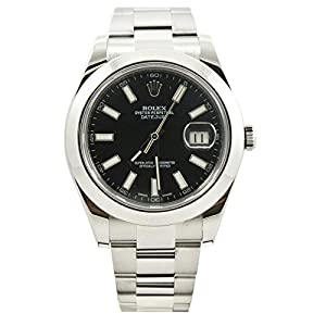Rolex Datejust II automatic-self-wind black mens Watch 116300BKS (Certified Pre-owned)