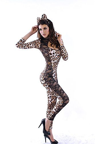 Leopard Tiger Lion Animal Costume Lioness Costume Adult Womens