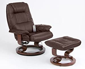Napoli Heat and Massage Recliner Chair (Brown)