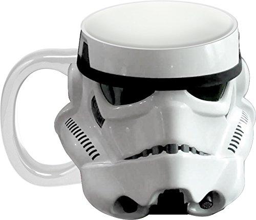 Vandor 99101 Star Wars Storm Trooper Sculpted Ceramic Mug, White/Black