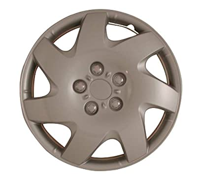 CCI IWCB8088-16S 16 Inch Clip On Silver Finish Hubcaps - Pack of 4