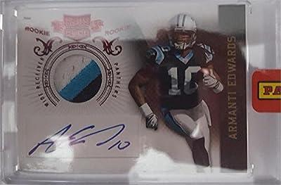 Armanti Edwards autographed Football Card (Carolina Panthers) 2010 Panini Plates & Patches Rookie Encased #202