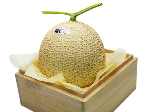 静岡県産 メロン クラウンメロン 1個 等級:山 1.3キロ以上 高級桐箱入