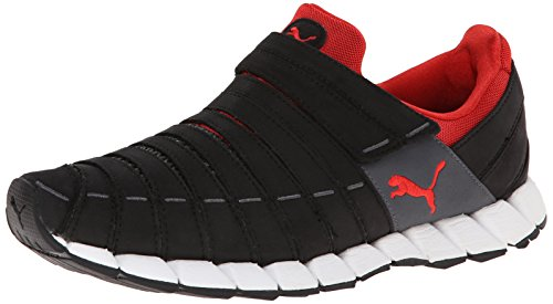 PUMA Men's Osu Running Shoe,Black/Dark Shadow/High Risk Red,9.5 M US