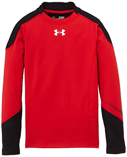 Under Armour, Maglia Bambino CG Infrared Multiplier Mock, Rosso (Red/Black/Reflective), S