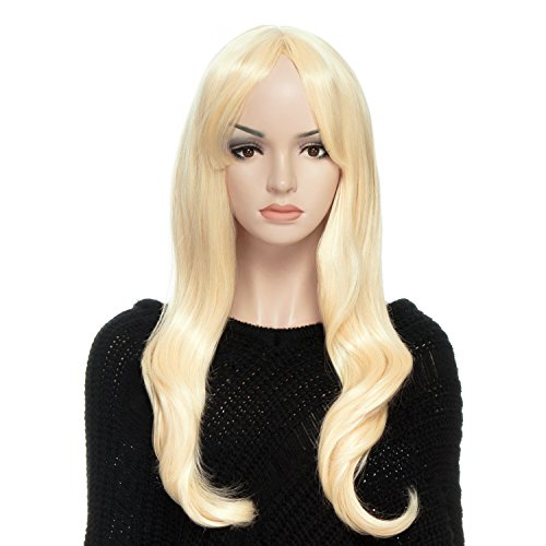 DAOTS Wig, Light Blonde Wigs for Women with Free Wig Cap and Bobby Pins, 22