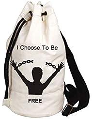 Madsbag Black & White 1570Cms Softsided Canvas Duffle Bag