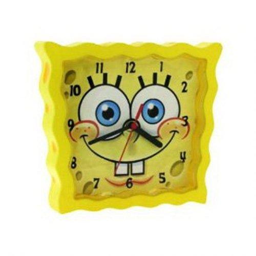 Spongebob Schwammkopf – SBCLK01 – gelbe Wanduhr für Kinder / Kinderuhr bestellen