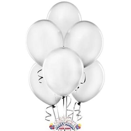 """Fun Express 11"""" Silver Metallic Balloons (2 Dozen)"""