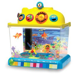 Sesame Street 2 5 Gallon Fish Tank Toys Games