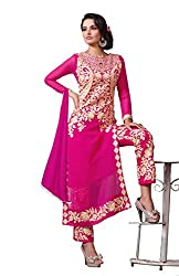 Glorious Pink Colored Designer Straight Suit