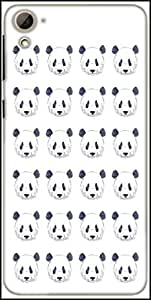 Snoogg Cute Panda Black And White Pattern Designer Protective Back Case Cover For HTC Desire 826