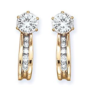 10K Yellow Gold 1/4 ct. Diamond Earring Jackets