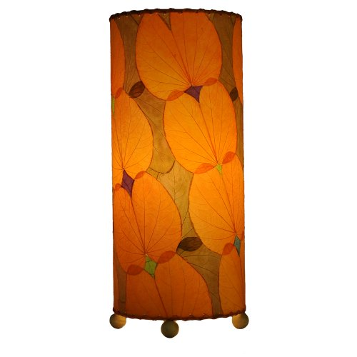 Eangee Home Design Butterfly series Table lamp in Orange with wrought iron frame