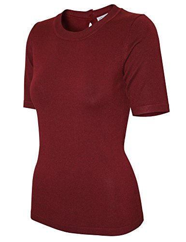 ribbed-crew-neck-fine-knit-dressy-work-sweater-top-with-back-keyhole-closure-small-sw655-burgundy