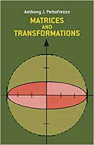 Matrices And Transformations Dover Books On Mathematics border=