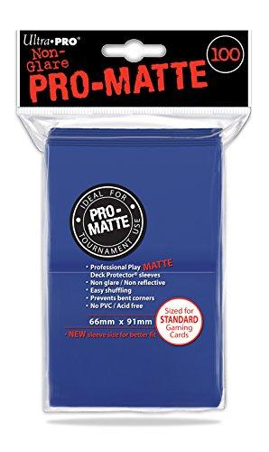 100-ultra-pro-deck-protector-sleeves-pro-matte-blue-standard-mat