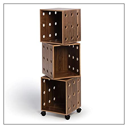 Perf Boxes by Offi & Co., stack height = Three; finish = Walnut