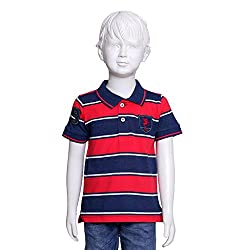 Tales & Stories Red Blue Striped Polo