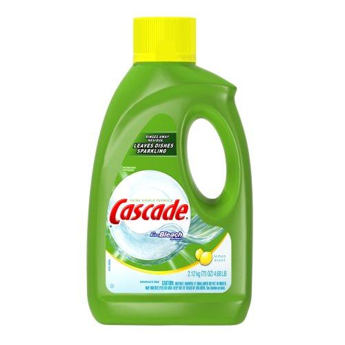 bleach stores cascade gel with extra bleach action lemon scent dishwasher detergent 75 ounce. Black Bedroom Furniture Sets. Home Design Ideas