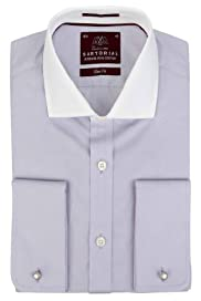 Sartorial Slim Fit Pure Cotton Winchester Shirt [T11-4557S-S]