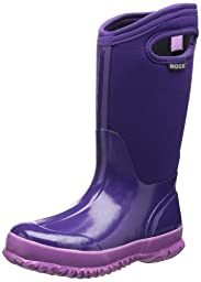Bogs Classic Solid Waterproof Insulated Rain Boot (Toddler/Little Kid/Big Kid), Grape,7 M US Toddler