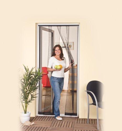 Lamelles Rideau Moustiquaire Portes Porte à 125x240cm XXL anthracite