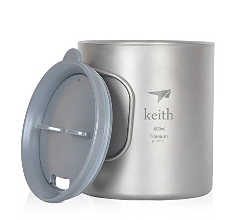 Double-Wall Titanium Mug Camping Cup Water Cup