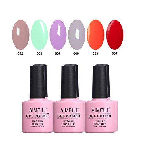 upc 701851250131 set6 5 aimeili soak uv led vernis 224 ongles gel semi permanent color mix