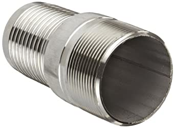 Dixon RST Series Stainless Steel 316 Hose Fitting, King Combination Nipple Threaded End with No Knurl, NPT Male x Hose ID Barbed