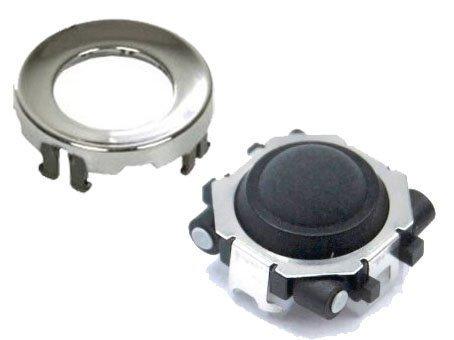 BlackBerry Trackball d'origine pour Bold 9000 Curve 8900/8300/8310/8320 Pearl 8100/8110/8120/8800 Contour chromé Blanc