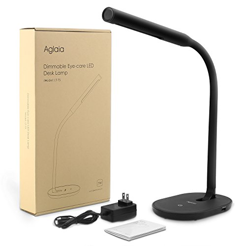 Aglaia Desk Lamp Eye Care Dimmable Table Lamp 7W With USB