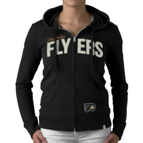 Nhl Philadelphia Flyers Pep Rally Full Zip Fleece Jacket, Large, Jet Black front-873511